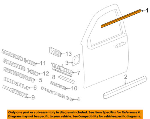 GM OEM Front Door Window Sweep-Belt Molding Weatherstrip Left 20921214