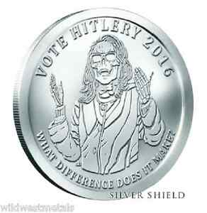 2016 1oz Hitlery Bu Oligarchy Series Silver Shield Get