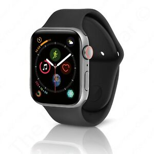 Apple Watch Series 4 44 Mm Space Gray Aluminum Case Black Sport Band Gps Lte 190198858443 Ebay