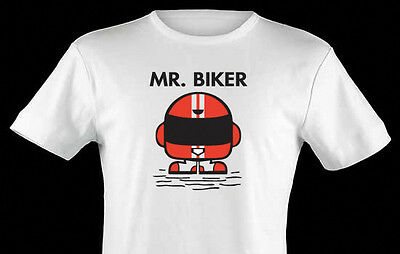 Mr biker. motorcycle Tshirt funny