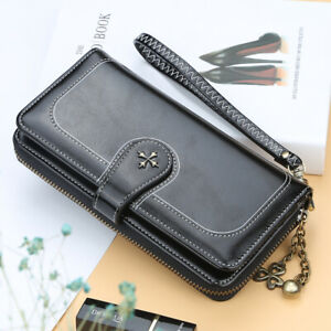 Women-Leather-Wallet-Large-Capacity-Clutch-Purse-Card-Phone-Holder-Zip-Handbag