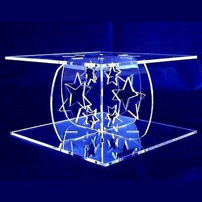 Romantico Star Design Quadrato Singolo Tier Supporto Per Torta-chiaro-