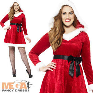 Details about Miss Santa Costume Plus Size Ladies Fancy Dress Adults  Christmas Costume Outfit