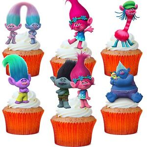 Trolls Cake Topper Figures Uk