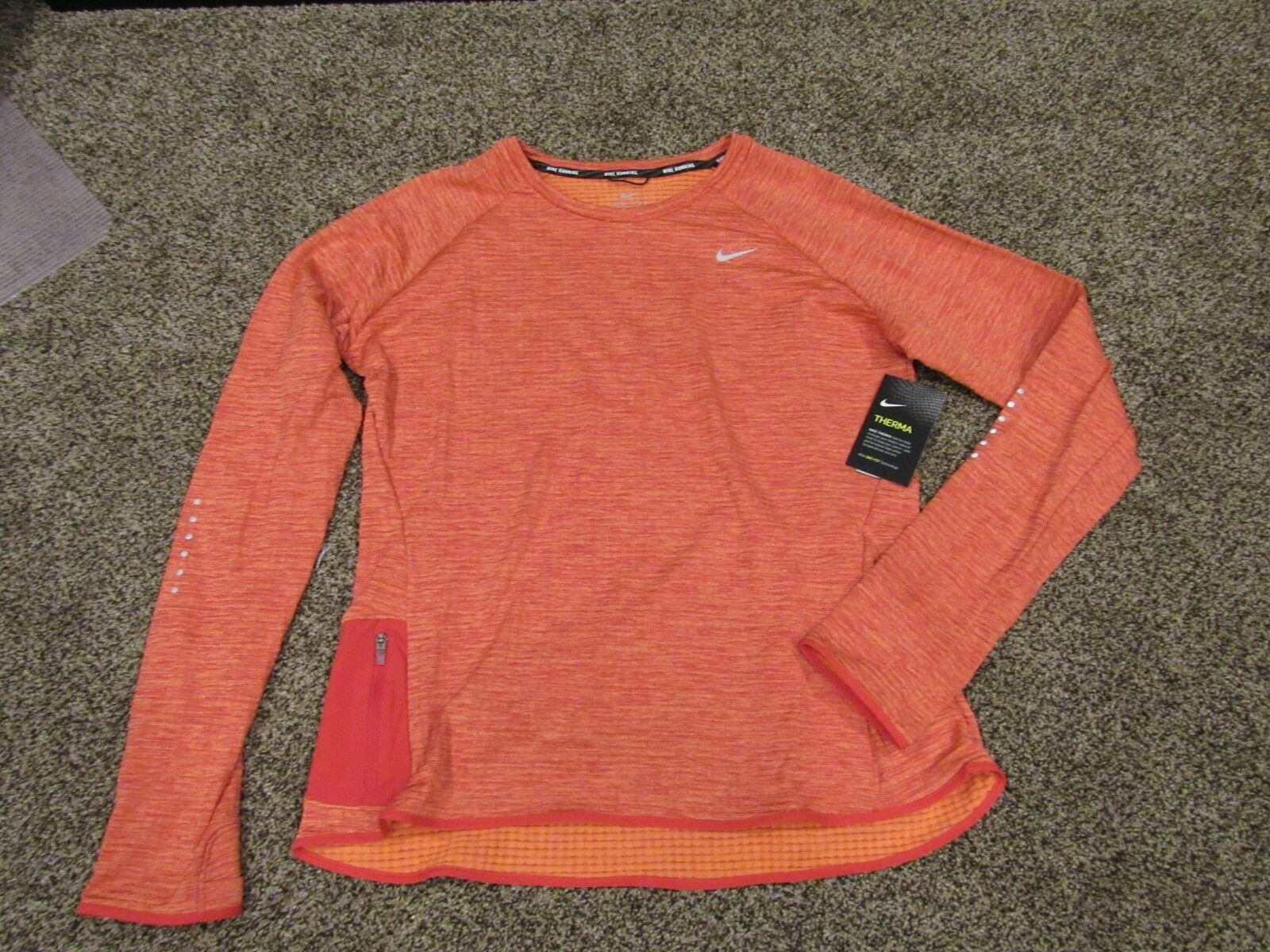 Women's NIKE SPHERE ELEMENT LONG SLEEVE TRAINING RUNNING SHIRT - L S 918014 842