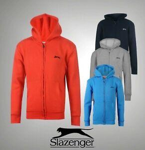 Junior-Boys-Branded-Slazenger-Fleece-Lining-Full-Zipped-Hoody-Size-Age-7-13