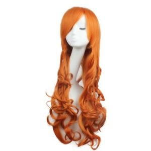 Women-Wigs-Long-Wavy-Curly-Cosplay-Party-Fashion-Wig-Heat-Resistant-Orange-Color