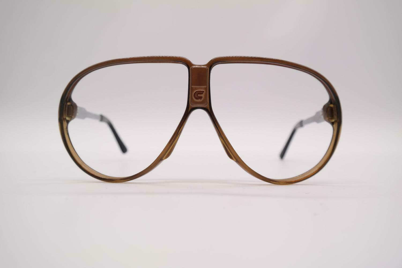 Vintage Carrera 5571 10 Brown Silver Oval Glasses Spectacles Frame Eyeglasses NOS-show original title