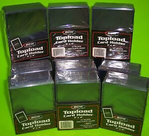 300-TOPLOAD-CARD-HOLDERS-FOR-SPORTS-TRADING-CARDS-12M-3-X-4-RIGID-PLASTIC-BCW