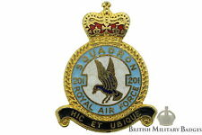 Queens Crown: Royal Air Force 201 Squadron Unit RAF Lapel Badge