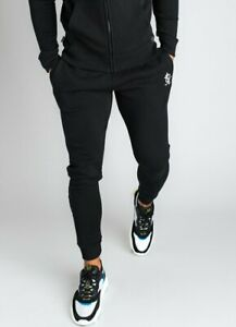 Gym-King-Mens-New-Basis-Joggers-Bottoms-Fleece-Lined-Black