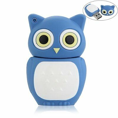16GB USB 2.0 Memory Stick Flash Pen Drive Storage Cute Owl Blue PK