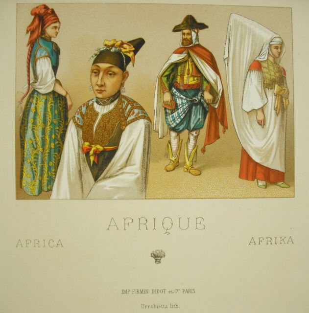 Suits Traditional African Africa Africa Muslim Firmin Didot c1888