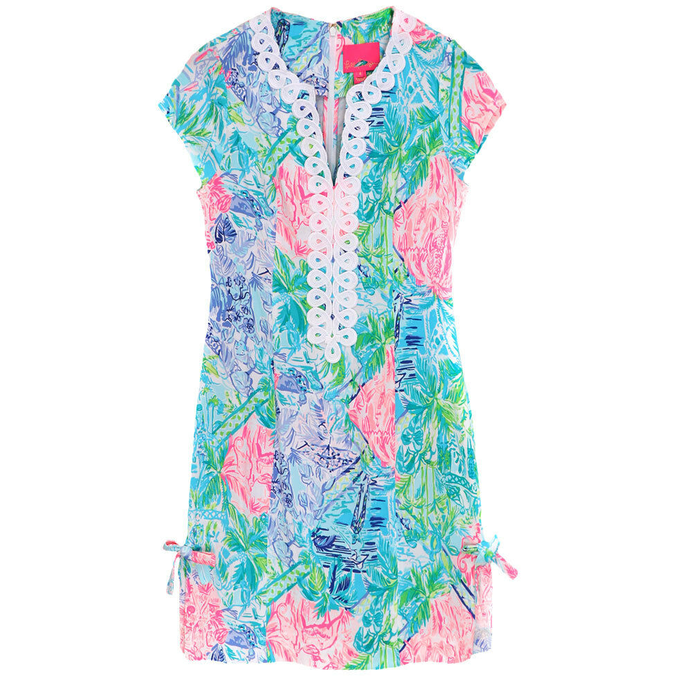 New Lilly Pulitzer Casidy Stretch Shift Dress Multi Bohemian Queen Queen Queen c35075