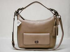 NWT COACH SIGNATURE LEG PEBBLED LEATHER COURT HOBO PURSE 22381  LIGHT KHAKITAN