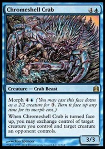 LP Old Commander MTG Magic Cards Blue Rare X4 Chromeshell Crab