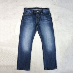 Homme-jeans-levis-514-taille-W34-L32-bleu-fonce-Slim-Fit-Straight-Leg-Denim-Pantalon