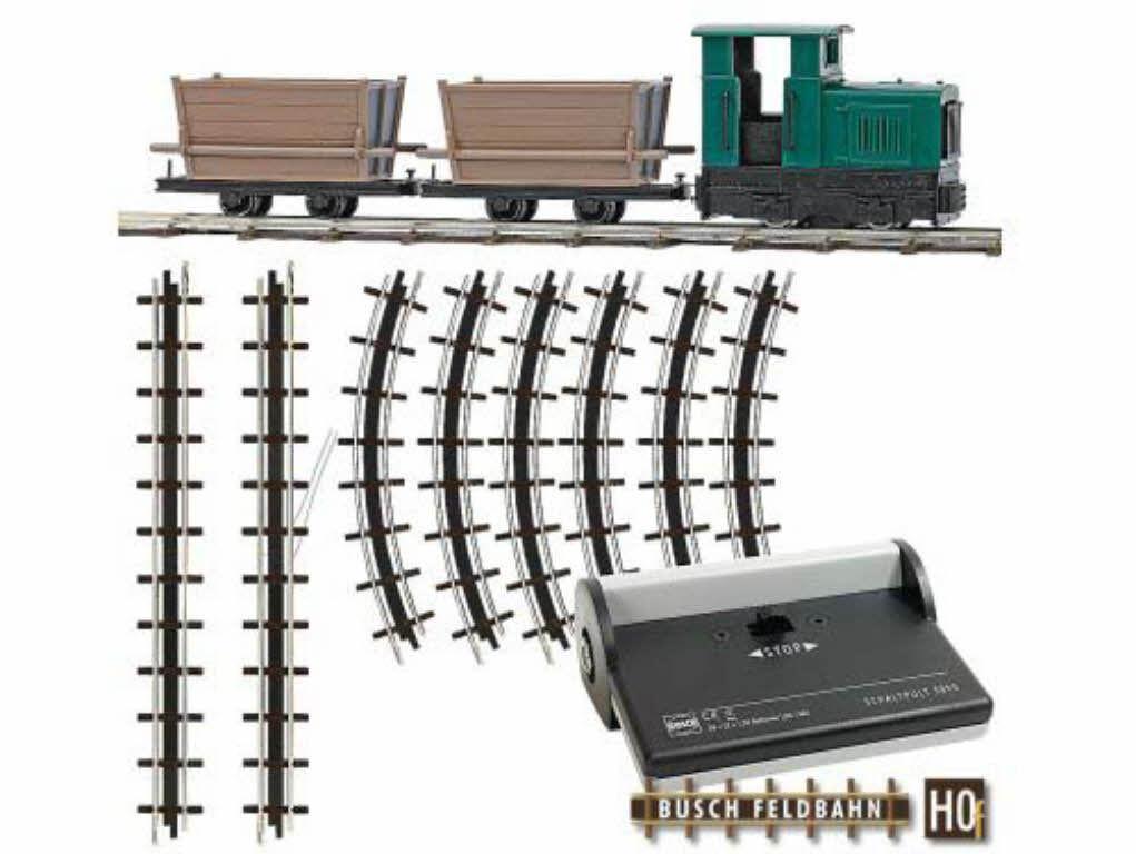 Busch 12001 campo treno start-set con torba LOREN start confezione con rotaie h0 NUOVO