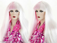 Modern Cleopatra With Bangs Long Straight Costume Wigs In Bright Colors