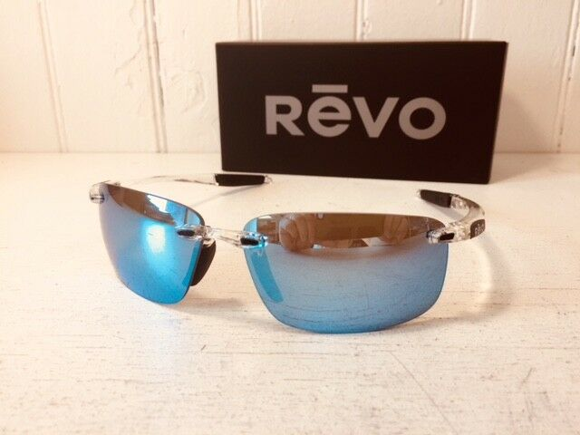 dd5adddf7fc Revo Descend N Sunglasses Crystal Blue Mirror Water Polarized 4059 09 for  sale online