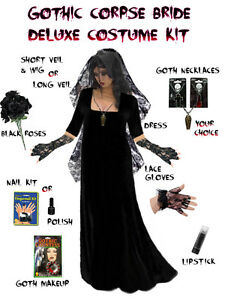 Image is loading Dark-Gothic-Corpse-Plus-Size-Ghost-Bride-Costume-