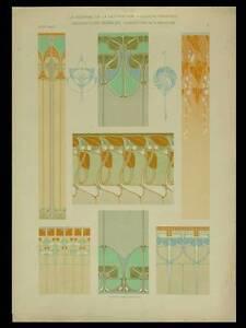 DECORATIONS-MURALES-RENE-BEAUCLAIR-1904-LITHOGRAPHIE-ART-NOUVEAU