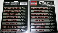 Tool Box Magnets Snap On Matco Craftsman Labels Screwdrivers Ratchets Drawer