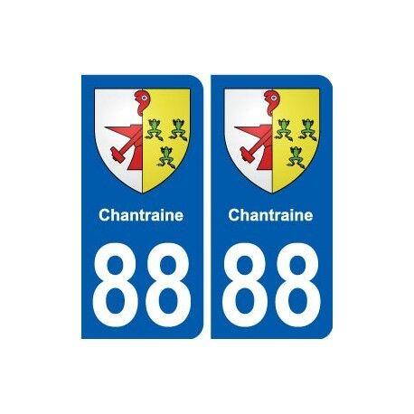 88 Chantraine blason autocollant plaque stickers ville -  Angles : arrondis