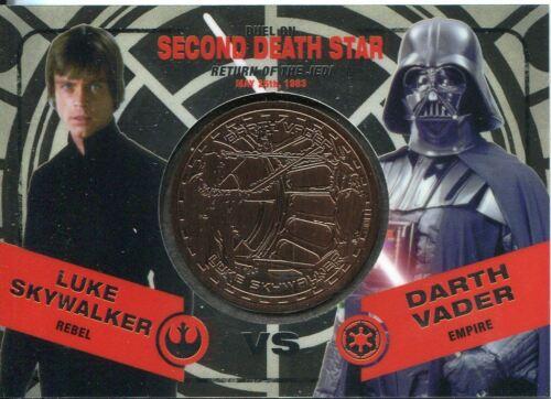 Star Wars Chrome Perspectives II Bronze Medallion Duel Second Death Star