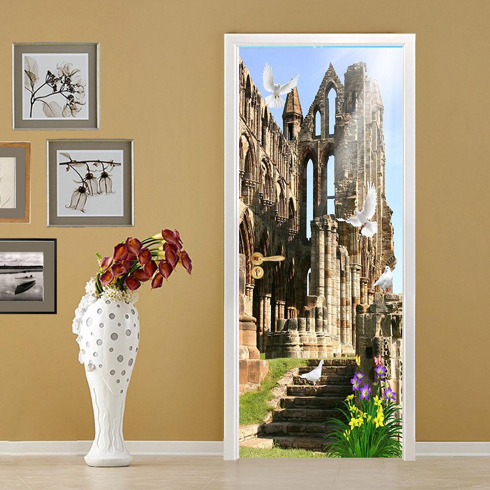 3D Gebäude 97 Tür Wandmalerei Wandaufkleber Aufkleber AJ WALLPAPER WALLPAPER WALLPAPER DE Kyra  | Starke Hitze- und Abnutzungsbeständigkeit  | Treten Sie ein in die Welt der Spielzeuge und finden Sie eine Quelle des Glücks  | Ausgezeichneter Wert  754cc1