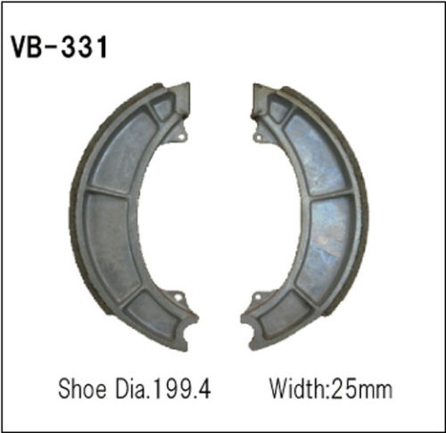Front Suzuki GT750 Le Mans 1971 Vesrah Brake Shoes