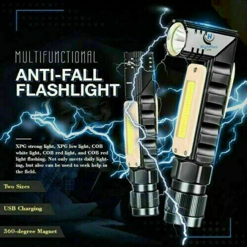 Multifunctional 360-degree Magnet Anti-fall Flashlight