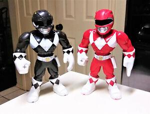 """Hasbro Playskool Heroes Mega Mighties Red & Black Power Ranger 10"""" Lot"""