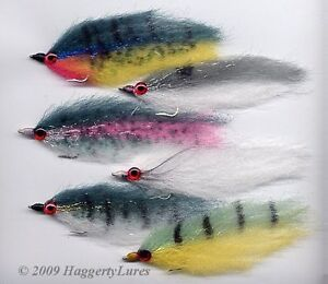6-Baitfish-Streamer-Flies-Muskie-Pike-Bass-Saltwater-Striper-Trout-Grouper