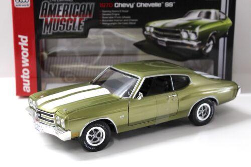 1:18 Auto World Chevrolet Chevelle SS454 Citrus green NEW bei PREMIUM-MODELCARS