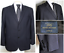 Mens-346-Brooks-Brothers-44R-Stretch-Wool-Dark-Blue-Suit-Blazer-Jacket-2-Button miniature 1
