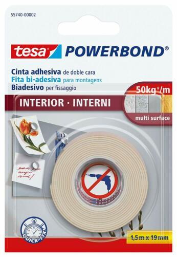 tesa Powerbond INDOOR doppelseitiges Montageklebeband 1,5m x 19mm