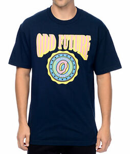 5e41782f2afa06 Odd Future OFWGKTA CIRCLE DONUT LOGO T-Shirt Navy NWT 100% Authentic ...