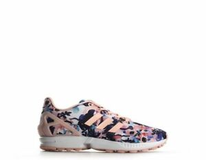 huge selection of 05a0c bf8f1 Details about Adidas BB2878 ZX Flux J Big Kids Graphic Sneakers Haze  Coral/White #BR31