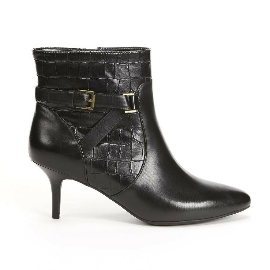 Chaps by Ralph Lauren Nevina Black Bootie Ankle Ankle Ankle Boots Heels Womens shoes 6M 4c34d2