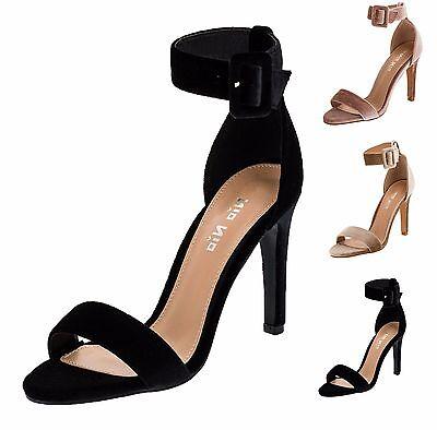 Damenschuhe 36-41 Schwarz Knöchelriemchen Pumps Damen Schuhe Party High Heels