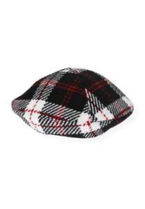 NWT-6-12-mo-Janie-amp-Jack-LEOPARD-CHIC-Black-amp-Red-Plaid-Wool-Blend-Beret-Hat