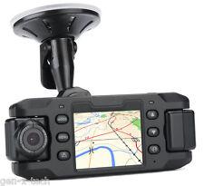 Dual Camera Car DVR 2x 180 Degree Rotating Camera: G-Sensor, GPS 140 Degree Lens