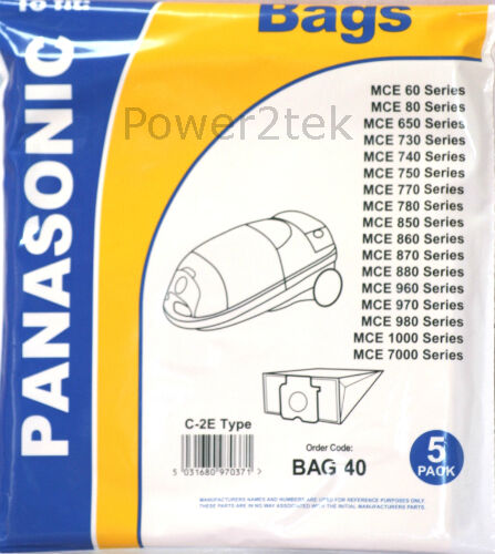 10 x c2e Sacchetti per aspirapolvere per Panasonic mce736 mce736k mce737 Hoover Nuove