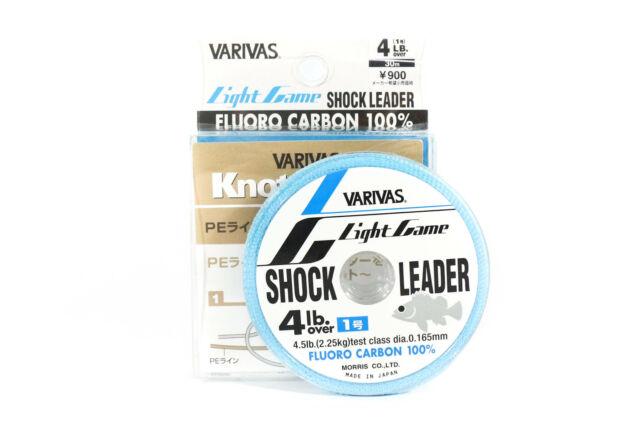 9895 Varivas Fluorocarbon Shock Leader Linie Light Game 30m 4lb