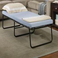 Portable Folding Bed W/ Memory Foam Mattress Cot Sleeper Easy Store Guest Home