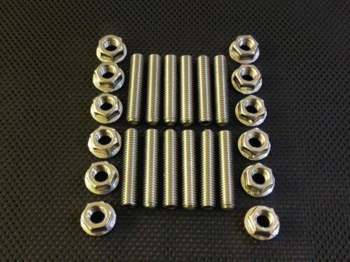 M8 SCARICO BORCHIE in acciaio inox e dadi della flangia lungo 40mm METRICA