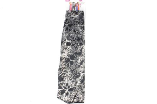 Silver Print Black Skinny Scarf Long Skinny Scarf Sash Belt Versatile Scarf 3in1