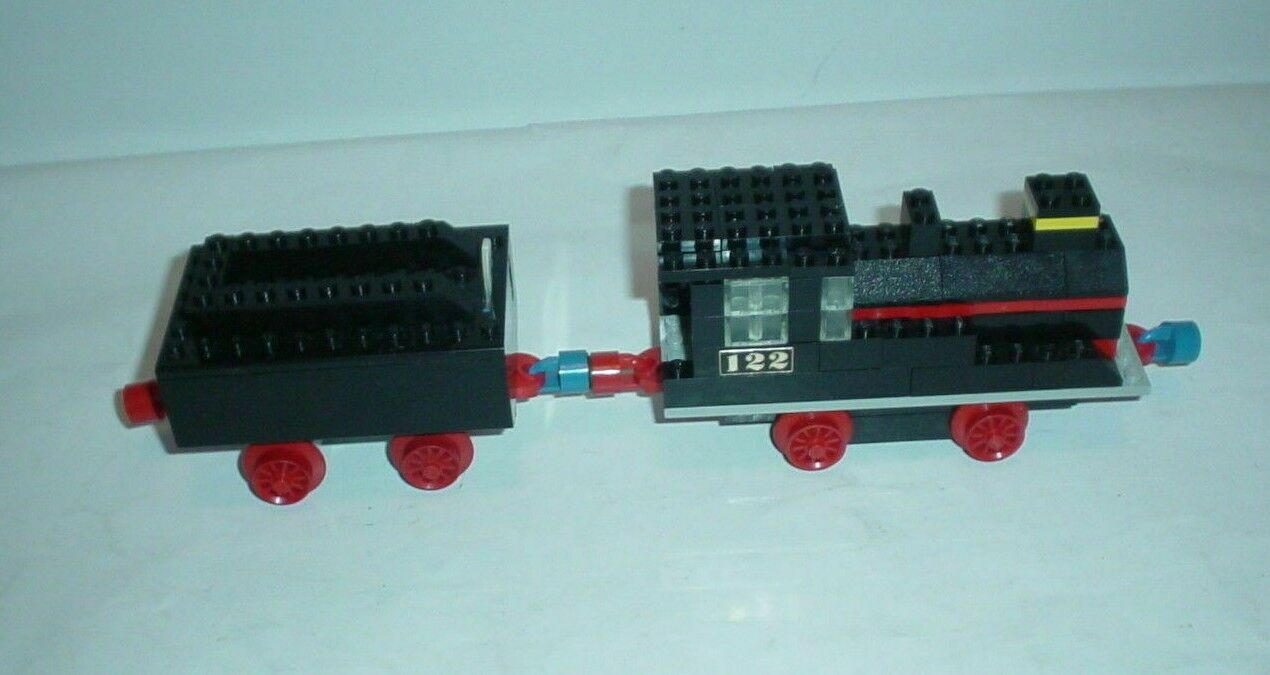 Lego RAILWAY-LOCOMOTIVE WITH TENDER 122 Loco and Tender WORKING COMPLETE