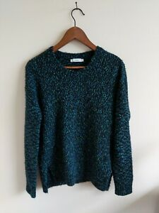 Vince-Wool-sweater-pullover-long-sleeve-crew-neck-in-blue-size-XS
